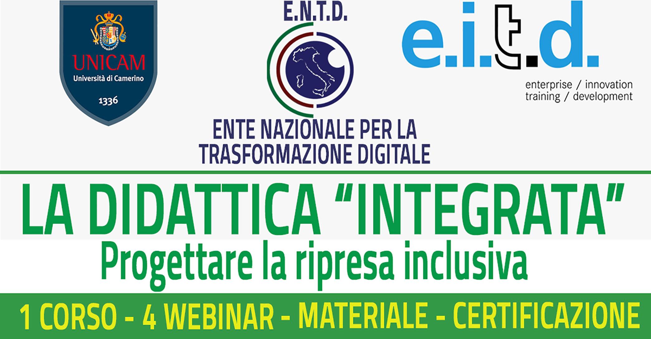 LA DIDATTICA INTEGRATA – Progettare la ripresa inclusiva