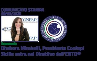 Economia: Dhebora Mirabelli, Presidente Confapi Sicilia, entra nel Direttivo dell'ENTD